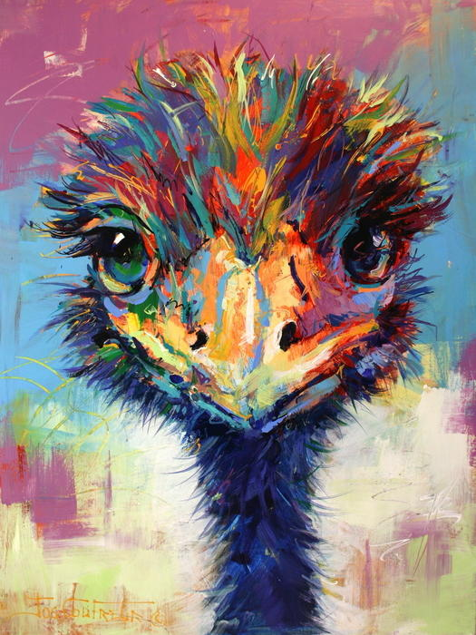 Cheeky emu by jos coufreur paintings for sale bluethumb for Artworks for sale online