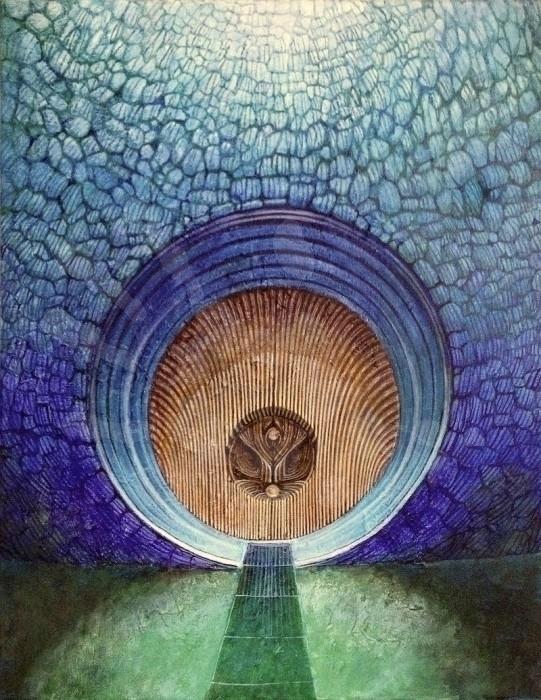 Blue Door: Peacock