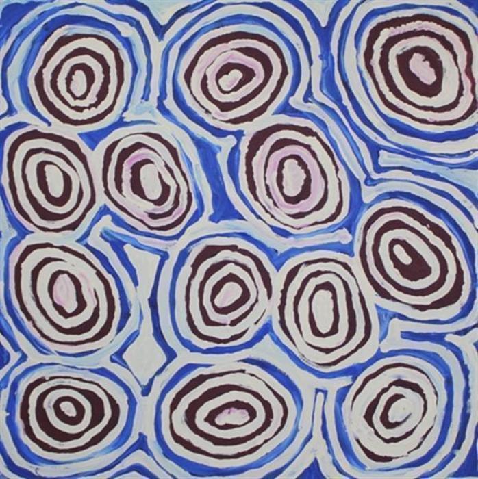 Aboriginal Art - Alice Nampitjinpa Dixon - Porcupine Rockhole