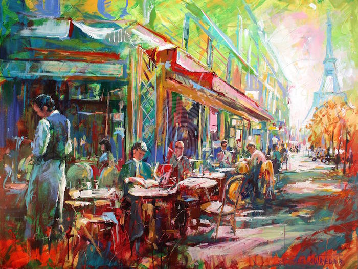 Cafe Canvas Painting