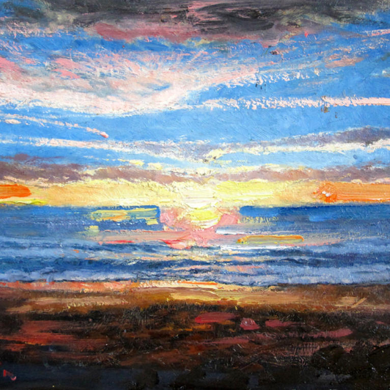 Main serene sunset over the pacific richard dupain square bluethumb art