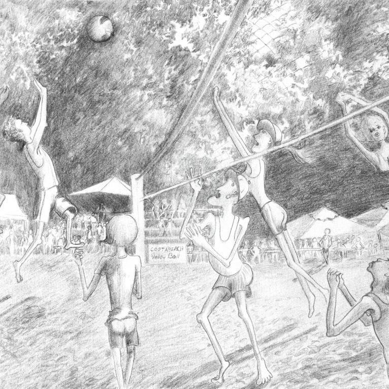 Main cootabeach volley ball melody stewart square bluethumb art