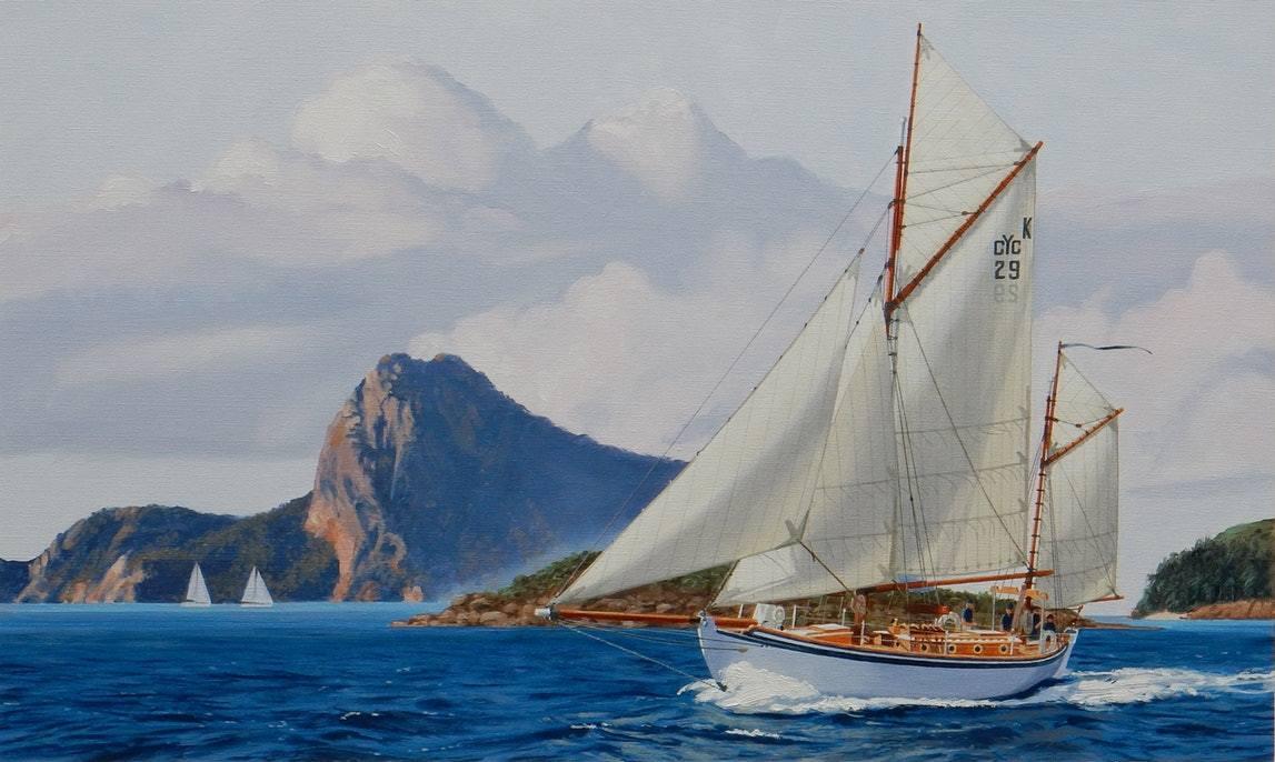 The kathleen gillett sails the whitsundays lance ross bluethumb art